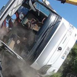 Man, Son Killed in Bus-Lorry Collision in Malaysia