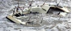 Mediterranean Shipwreck in Libya Coastal Waters